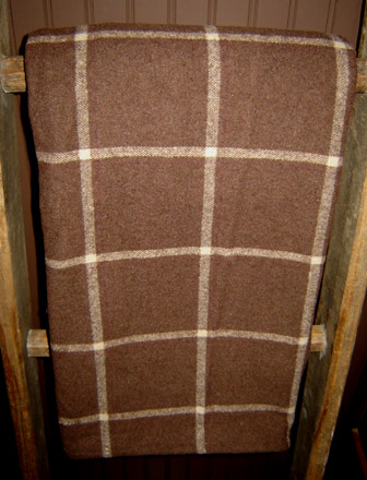BL102 Brown Plaid Flannel Blanket-