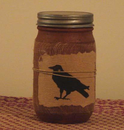 CA104 16 oz. Black Crow Brown Sugar Jar Candle-