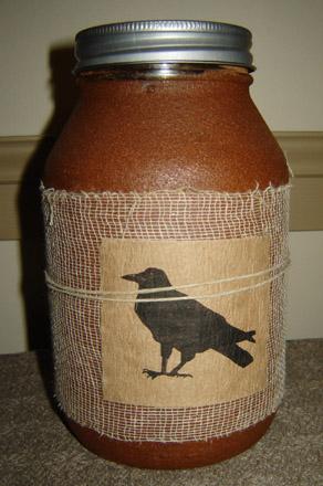 CA145 32 oz. Black Crow Jar Candle-