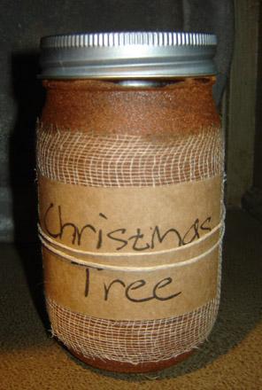 CA168 16 oz. Christmas Tree Jar Candle-