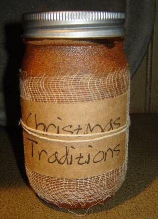 CA169 16 oz. Christmas Traditions Jar Candle-