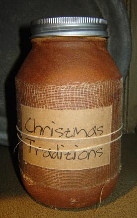 CA170 32 oz. Christmas Traditions Jar Candle-