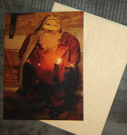 CARD101 Arnett's Santa in Long Johns Card & Envelope-
