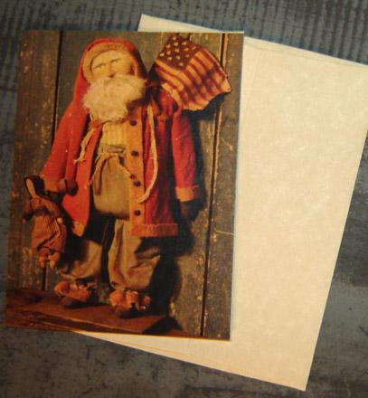 CARD102 Arnett's Santa & Doll Card & Envelope-