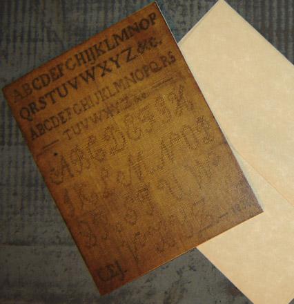 CARD103 1836 Sampler Card & Envelope-