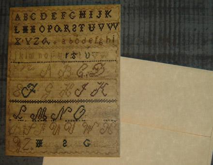CARD104 ABC Sampler Card & Envelope-