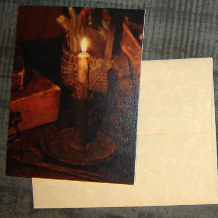 CARD105 Old Candlestick Card & Envelope-