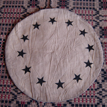 "CM102 9"" Star Border Candle Mat-"