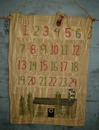 CT120 Fabric Log Cabin Advent Calendar-