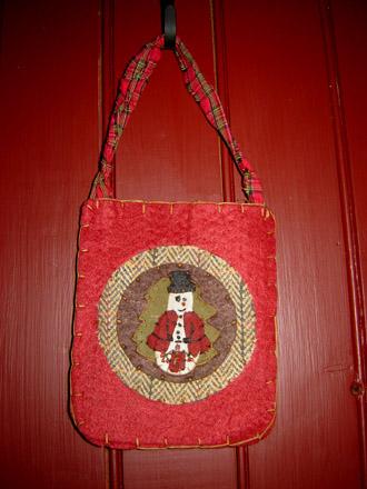 CT168 Red Felt Snowman Pocket-