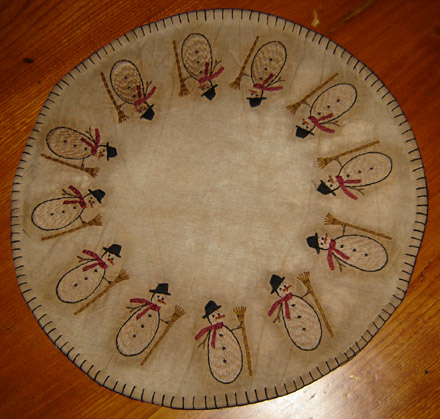 "CT198 14"" Snowman Table Mat-"