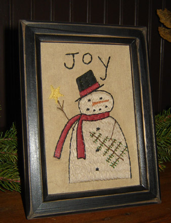 CT200 Joy Snowman Stitchery-