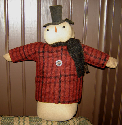 CT205 Snowman with Wool Coat-