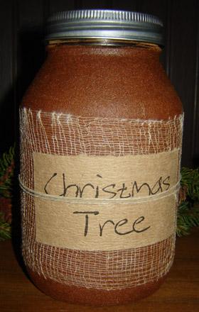 CT211 32 oz. Christmas Tree Jar Candle-