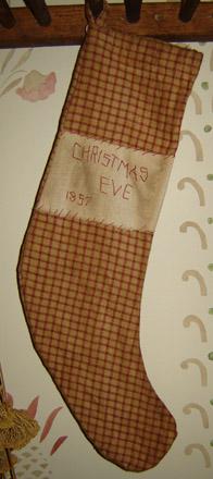 CT229 Arnett's 1857 Red Plaid Stocking-