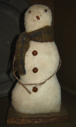 CT237 Snowman On Wooden Base-