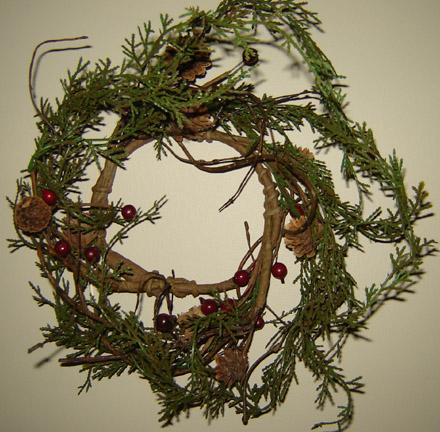 CT244 Medium Rustic Christmas Ring-