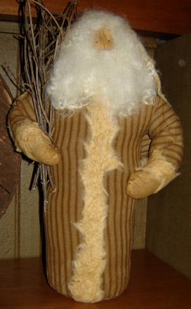 CT248 Brown Ticking Santa-
