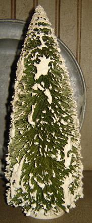 "CT254 12"" Snowy Bottle Brush Tree-"