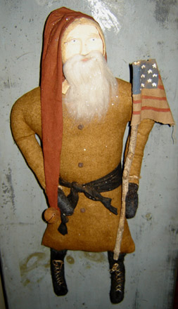 CT264 Arnett's Hanging Santa With Flag-