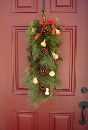 CT267 Gourd Christmas Swag-