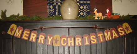 CT283 Merry Christmas Wooden Garland-