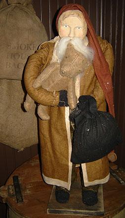 CT286 Arnett's Tall Santa With Teddy Bear-