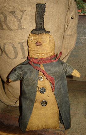 CT316 Snowman With Black Coat-