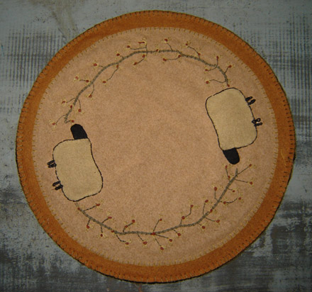 "FH119 14"" Autumn Sheep Candle Mat-"