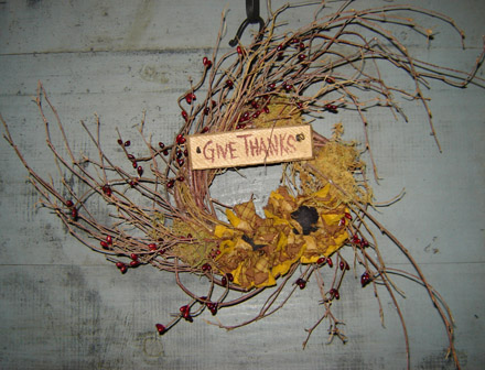 FH122 Give Thanks Wreath-