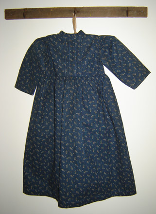 MO142 Blue Calico Child's Dress-