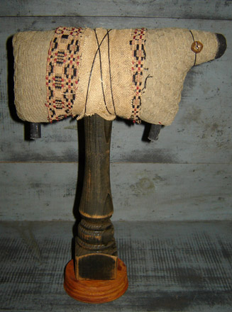 MO151 Cloth Sheep on Pedestal-