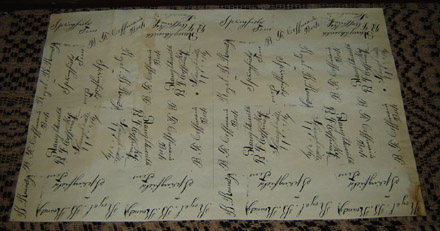 MO166 Old Script Paper with Names-