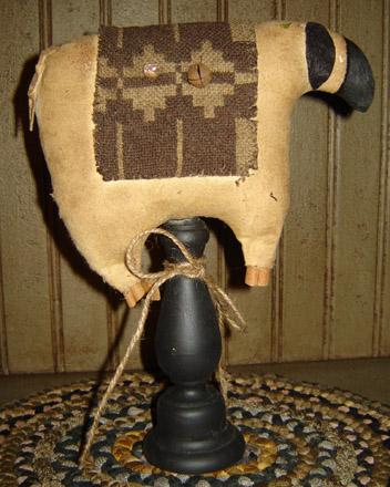 MO179 Brown Coverlet Sheep Pedestal-