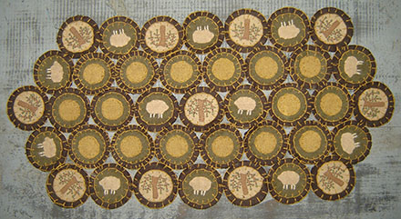 PM119 Willow & Sheep Penny Mat-