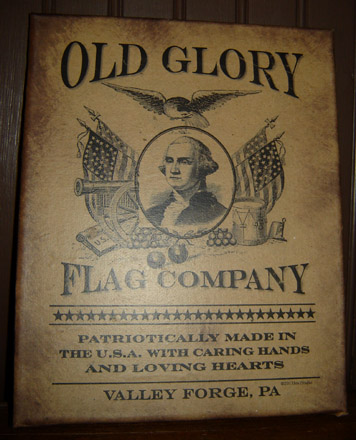 PS130 Old Glory Flag Company Canvas-
