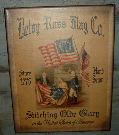 PS150 Betsy Ross Flag Co. Canvas Print-