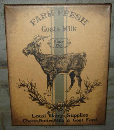 PS152 Farm Fresh Goats Milk Canvas Print-