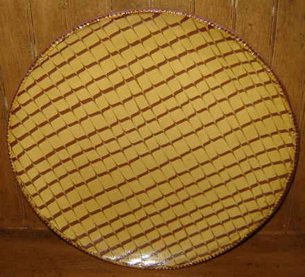 """RD104 11"""" Round Feather Plate-"""