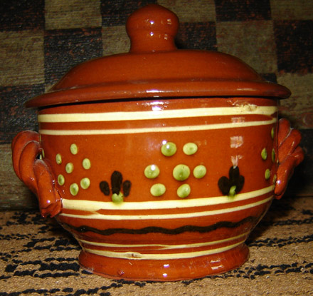 RD109 Roped Handle Covered Small Dish-