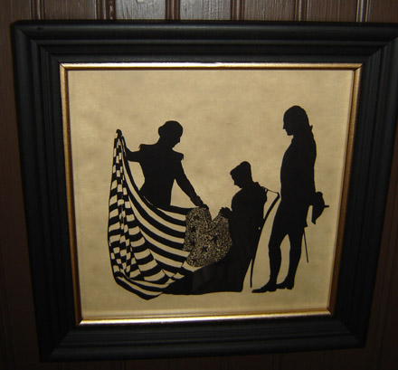 SIL105 Betsy Ross & George Washington Silhouette-