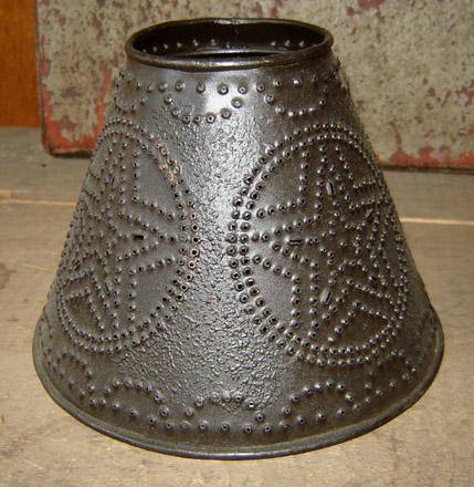 TN122 6 Inch Star Punched Tin Lampshade-