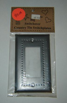 TN126 Single Switchplate-