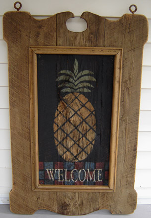 TVPW24X36 Tavern Sign With Welcome Pineapple-0005, tavern sign