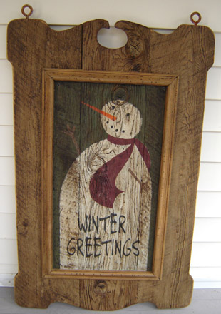 TVWG24X36 Tavern Sign With Winter Greetings Insert-0017, tavern sign