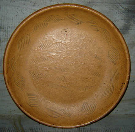 WO199 Wooden Mustard Combed Plate-