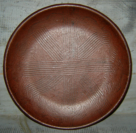 WO201 Wooden Burgundy Combed Plate-