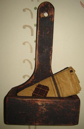 WO224 Black Primitive Long Handle Wall Box-
