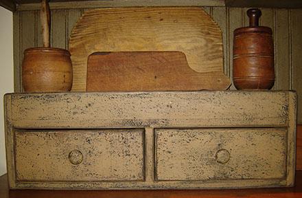 WO238 Mustard 2 Drawer Box-
