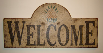 WS116 Welcome Plaque with Pineapple-